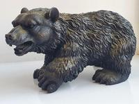 Large Detailed Vintage Bronze Grizzly Bear c1940s (8 of 10)