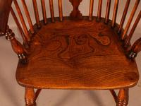 Good High Back Windsor Chair c.1840 (8 of 11)