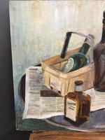 oil on board -  still life with bottles (3 of 4)