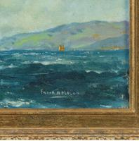 Pair of Oil Paintings of Clyde One Design Yachts Racing by Frank Henry Mason (5 of 12)