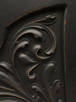 Antique Art Nouveau Black Writing Bureau Desk with Carvings, Lockable, Gothic (12 of 23)