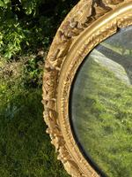 Early 18th Century Carved Giltwood Oval Mirror (4 of 6)