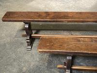 French Farmhouse Dining Table & Benches Set (12 of 33)