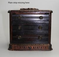 Black Forest Miniature Apprentice Piece Carved Chest 19th Century (10 of 11)