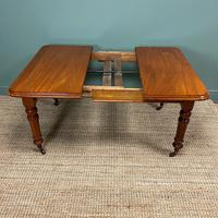 Small Quality Mahogany Antique Victorian Extending Dining Table (8 of 9)