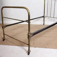Brass Bed Frame Victorian 19th Century Single Bedframe Cast Iron (7 of 12)