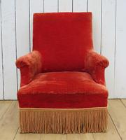 Antique French Armchair & Matching Stool (9 of 13)