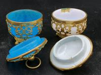 Palays Royale Pair of Boxes in Blue Opaline & Golden Brass Frame (3 of 5)