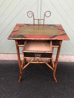 Antique Lacquered Bamboo Desk (7 of 11)