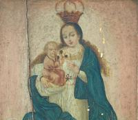 Antique Oil Painting Madonna & Child Murillo 18th Century (3 of 8)