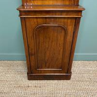 Tall Slim Victorian Mahogany Antique Bookcase on Cupboard (4 of 10)