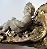 Italian 18th Century Carved and Gilded Shelf Bracket with Plaster Putto, ex Country House (8 of 8)