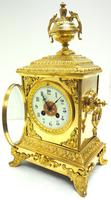 Fine French Ormolu Cubed Mantel Clock Classic 8 Day Striking Mantle Clock (10 of 10)