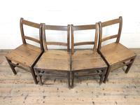 Set of Four Antique Farmhouse Kitchen Chairs (5 of 9)