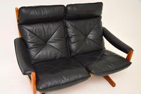 1970's Vintage Teak & Leather Sofa by Soda Galvano (7 of 10)