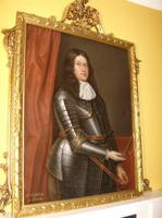 17th Century Oil Portrait Painting Mr Gibson of Durie Wearing Armour & Attributed to Artist David Scougall