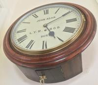 Eight Day Rare High Quality Lancs / Yorks Railway Clock (5 of 12)