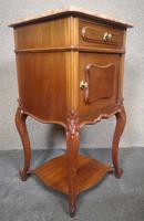 Pair of French Antique Walnut Bedside Cupboards / Night Stands c.1910 (7 of 9)