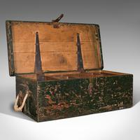Small Antique Mariner's Trunk, English, Pine, Chest, Late Victorian c.1900 (2 of 12)