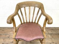Early 20th Century Beech Smoker's Bow Chair (5 of 8)