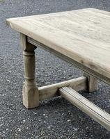 Rustic Bleached Oak French Farmhouse Dining Table (27 of 34)