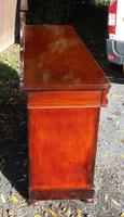 1900's Large Carved Mahogany 4 Door Sideboard with Back (4 of 5)