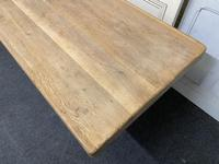 Large French Bleached Oak Farmhouse Dining Table (15 of 19)