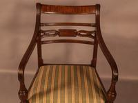 Rare Set of 10 Regency Period Mahogany Dining Chairs (12 of 17)