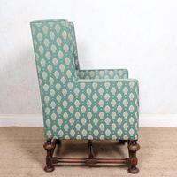 Lounge Chair Armchair Walnut Wingback Edwardian (8 of 12)