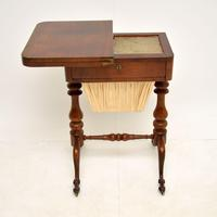 Antique Victorian Walnut Games / Chess Table (7 of 12)