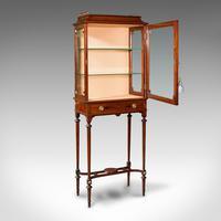 Antique Raised Pier Cabinet, English, Mahogany, Display Case, Edwardian, C.1910 (2 of 12)