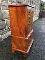 Antique Figured Walnut Small Chest Drawers (5 of 10)