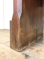 Antique Pitch Pine Church Pew with Enamel Number 37 (M-1639) (6 of 12)