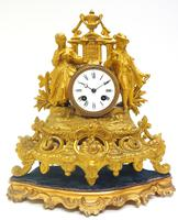 Stunning Quality French Mantel Clock Lady & Lord Figural Mantle Clock. (6 of 9)