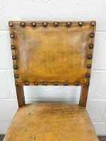 Set of Four Early 20th Century Leather Dining Chairs (6 of 10)