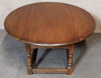 Oak Drop Leaf Occasional - Coffee Table Wood Bros, Old Charm Furniture (5 of 11)