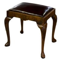 Walnut Queen Anne Style Stool c.1910 (5 of 5)