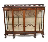 Antique Chippendale China Cabinet Mahogany Antique c.1910 (6 of 15)