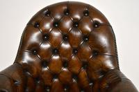 Antique Victorian Style Leather Swivel Desk Chair (6 of 12)