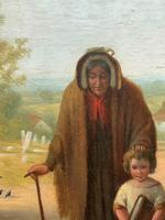 'Sunday Morning' An Enchanting Original 19thc Portrait Oil Painting' (7 of 14)