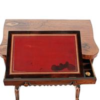 Rosewood Turn Over Top Writing Table (6 of 9)