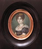 Miniature Portrait Josephine 1st Wife of Napoleon (2 of 6)