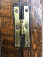 Antique Georgian Oak Hanging Corner Cupboard with Brass Knobs (3 of 9)