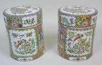 Fabulous Large Pair Chinese Famille Rose Opium Jars (3 of 12)