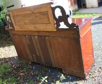1900's Large Carved Mahogany 4 Door Sideboard with Back (5 of 5)