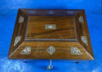 William IV Rosewood Jewellery Box with Inlays (2 of 12)