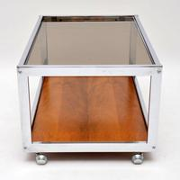 1970's Vintage Rosewood & Chrome Coffee Table by Howard Miller Associates (4 of 8)