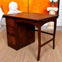 Carved Oak Desk French Writing Table Golden (8 of 15)
