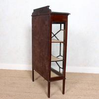 Glazed Bookcase Edwardian Astragal Display Cabinet Mahogany (3 of 11)