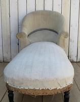 Antique French Chaise Longue Day Bed for re-upholstery (2 of 9)